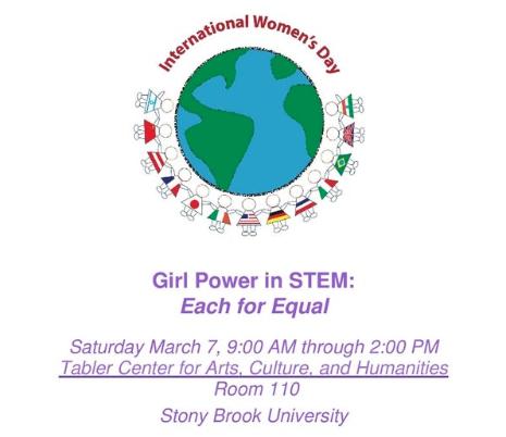 international womens day girl power stem